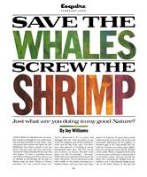 save the whales screw the shrimp