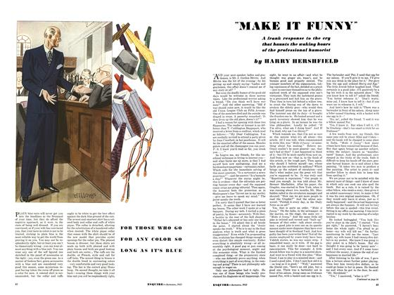 "Article Preview: ""Make It Funny"", September 1933 