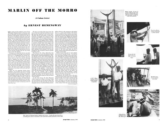 Article Preview: Marlin off the Morro, September 1933 | Esquire
