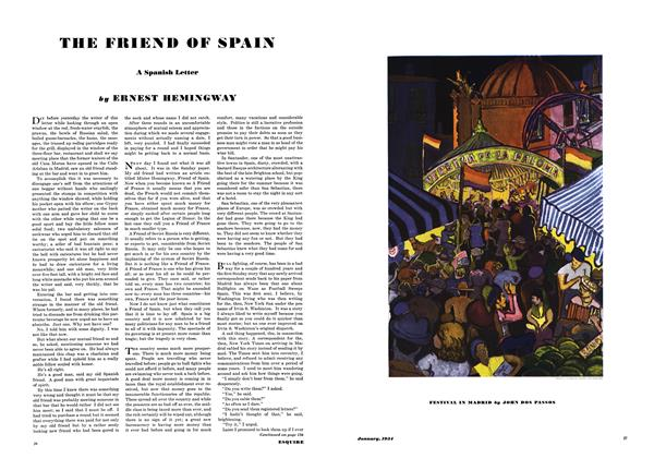 Article Preview: The Friend of Spain, January 1934 | Esquire