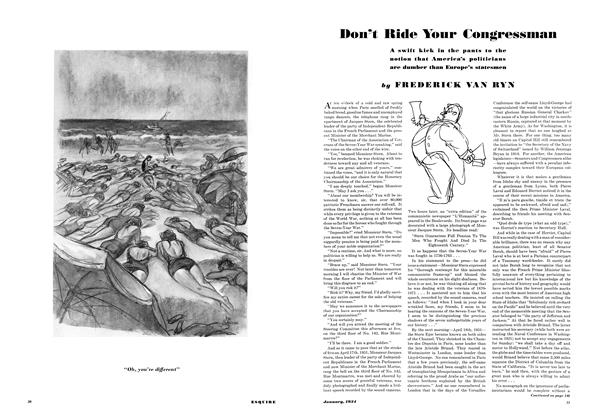 Article Preview: Don't Ride Your Congressman, JANUARY 1934 1934 | Esquire