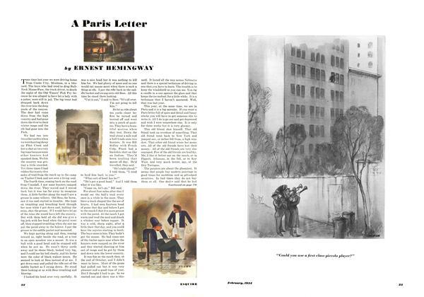 A Paris Letter