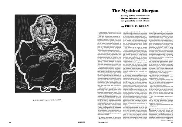 Article Preview: The Mythical Morgan, FEBRUARY 1934 1934 | Esquire