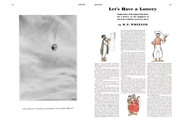 Article Preview: Let's Have a Lottery, APRIL 1934 1934 | Esquire