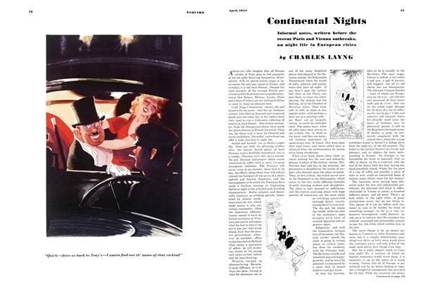 Article Preview: Continental Nights, APRIL 1934 1934 | Esquire