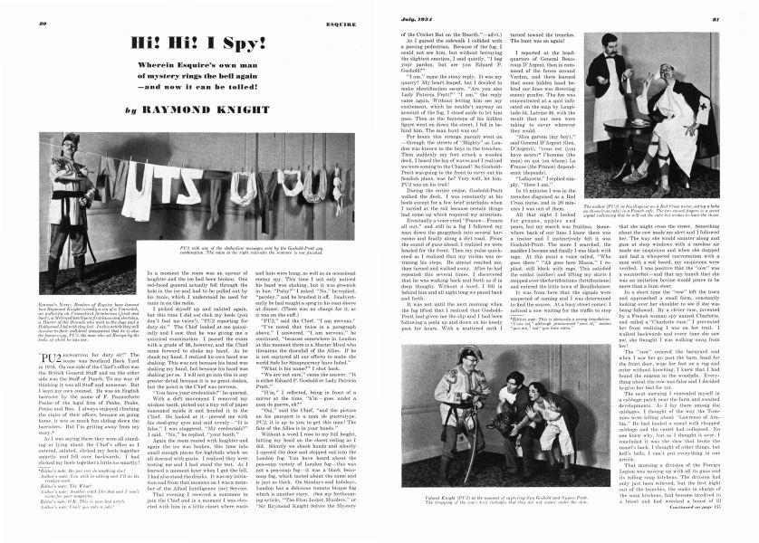Hi! Hi! I Spy!   Esquire   JULY 1934