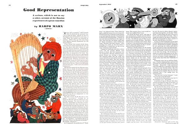 Article Preview: Good Representation, SEPTEMBER 1934 1934 | Esquire