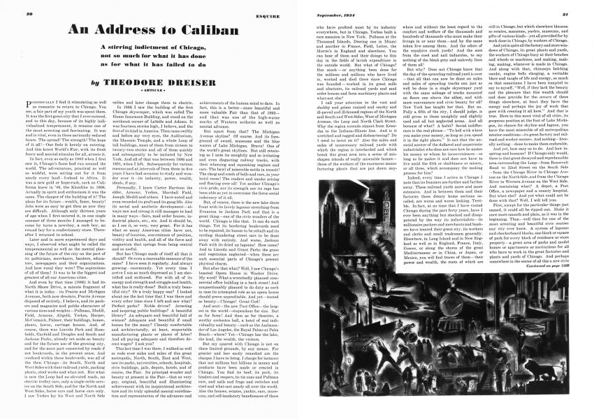 An Address to Caliban | Esquire | SEPTEMBER 1934