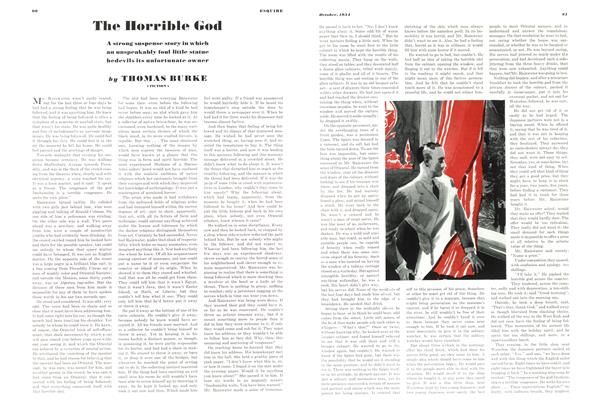 Article Preview: The Horrible God, OCTOBER 1934 1934   Esquire