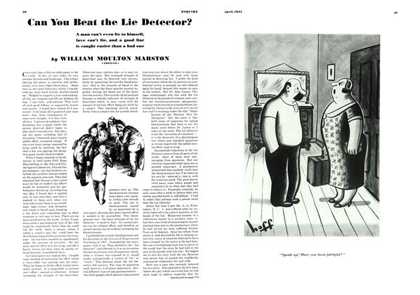 Article Preview: Can You Beat the Lie Detector?, APRIL 1935 1935 | Esquire