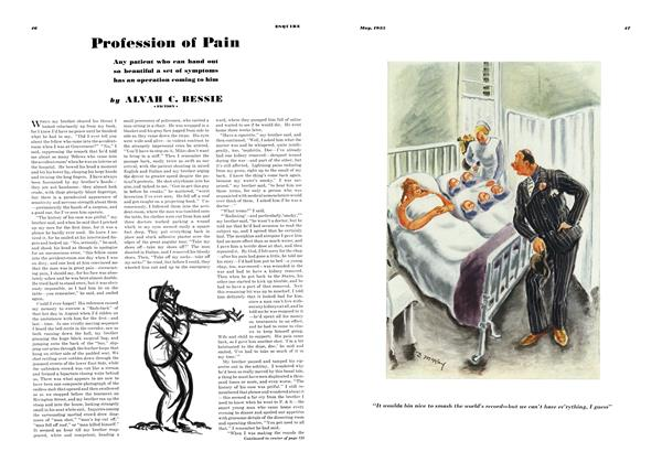 Article Preview: Profession of Pain, MAY 1935 1935 | Esquire