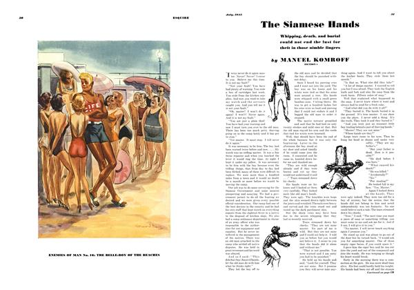 Article Preview: The Siamese Hands, JULY 1935 1935   Esquire