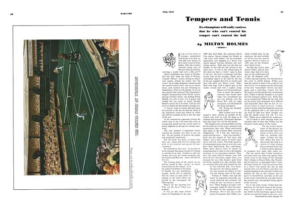 Article Preview: Tempers and Tennis, JULY 1935 1935 | Esquire
