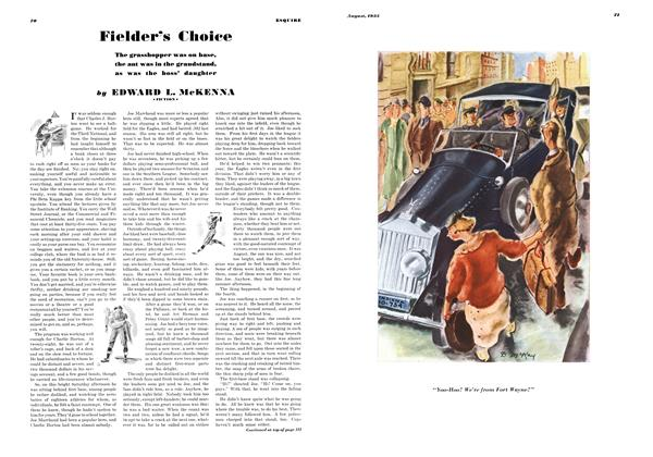 Article Preview: Fielder's Choice, AUGUST 1935 1935 | Esquire