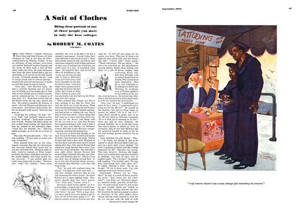 Article Preview: A Suit of Clothes, SEPTEMBER 1935 1935 | Esquire