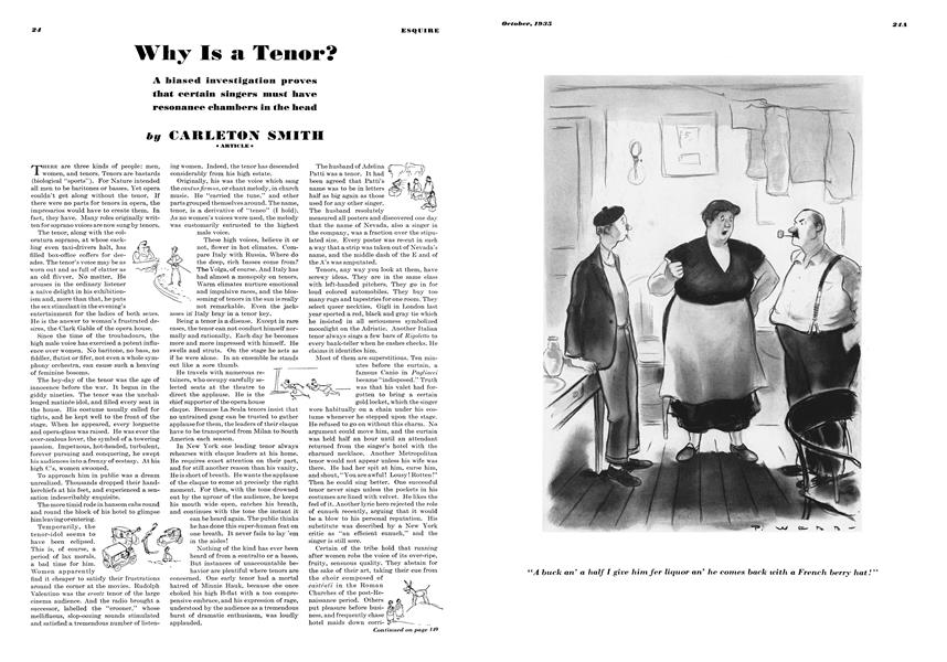 Why Is a Tenor? | Esquire | OCTOBER 1935
