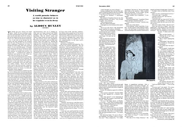Article Preview: Visiting Stranger, November, 1935 1935 | Esquire