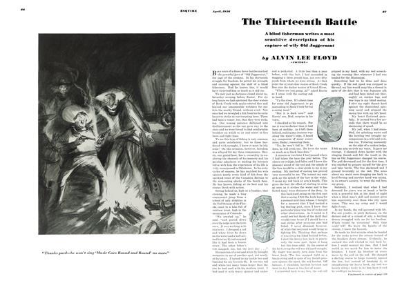 Article Preview: The Thirteenth Battle, APRIL 1936 1936 | Esquire