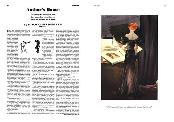 Article Preview: Author's House, JULY 1936 1936 | Esquire