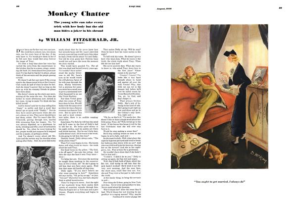 Article Preview: Monkey Chatter, AUGUST 1936 1936 | Esquire