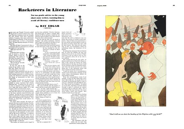 Racketeers in Literature