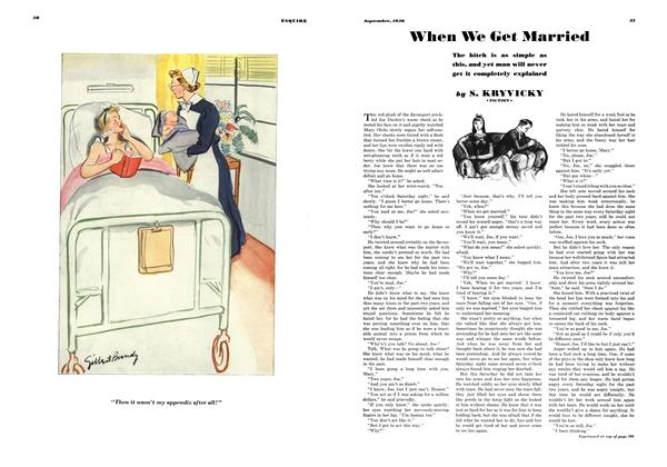 Article Preview: When We Get Married, SEPTEMBER 1936 1936   Esquire