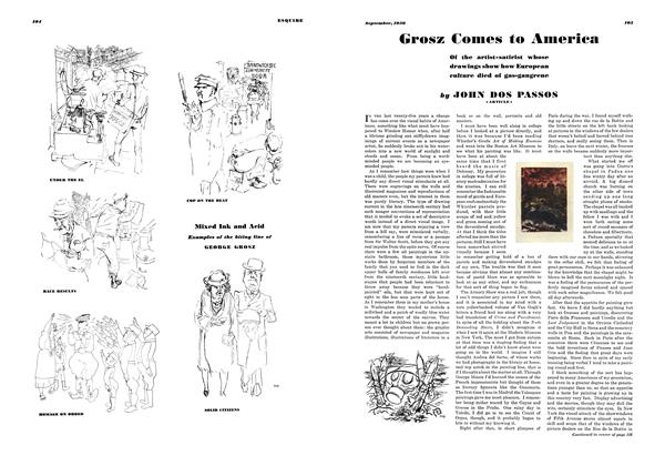 Grosz Comes to America