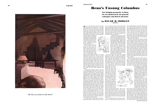 Article Preview: Reno's Unsung Columbus, JANUARY 1937 1937 | Esquire