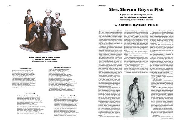 Article Preview: Mrs. Morton Buys a Fish, JUNE 1937 1937 | Esquire