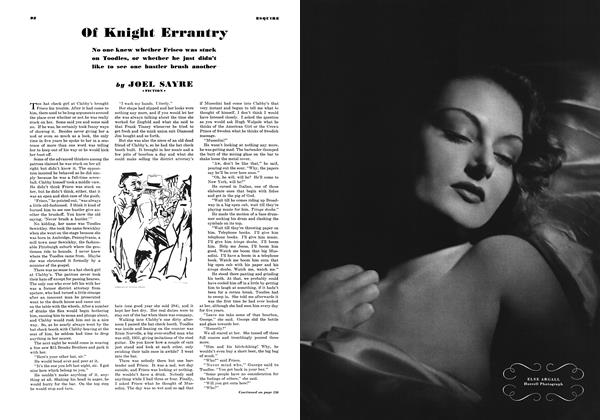 Article Preview: Of Knight Errantry, JUNE 1937 1937 | Esquire