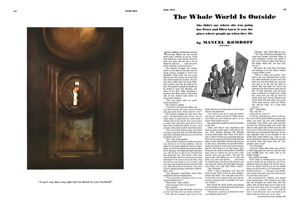 Article Preview: The Whole World Is Outside, JULY 1937 1937 | Esquire