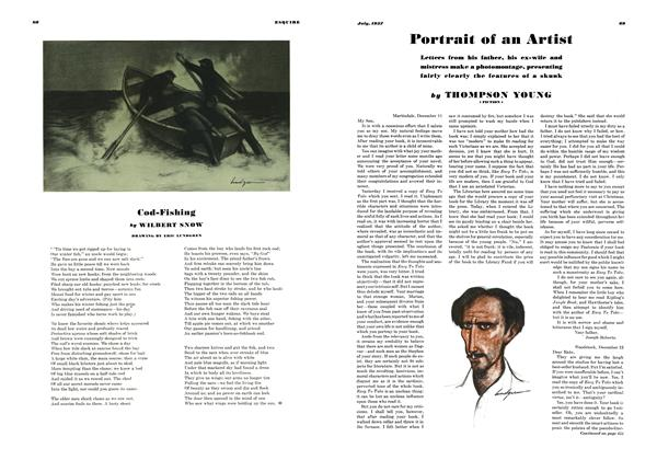 Article Preview: Portrait of An Artist, JULY 1937 1937 | Esquire