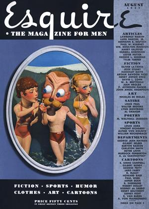Cover for the August 1937 issue