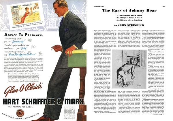 Article Preview: The Ears of Johnny Bear, SEPTEMBER 1937 1937 | Esquire