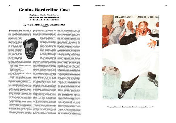 Article Preview: Genius Borderline Case, SEPTEMBER 1937 1937 | Esquire
