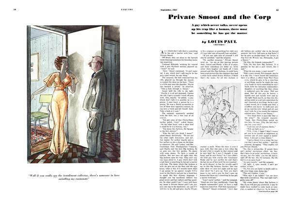 Article Preview: Private Smoot and the Corp, SEPTEMBER 1937 1937 | Esquire
