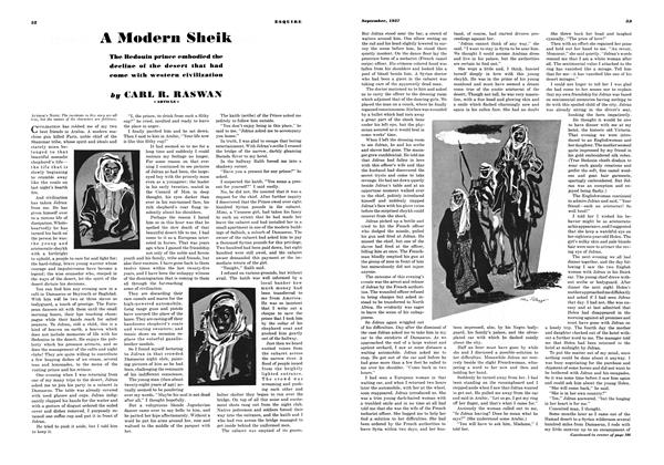 Article Preview: A Modern Sheik, SEPTEMBER 1937 1937 | Esquire