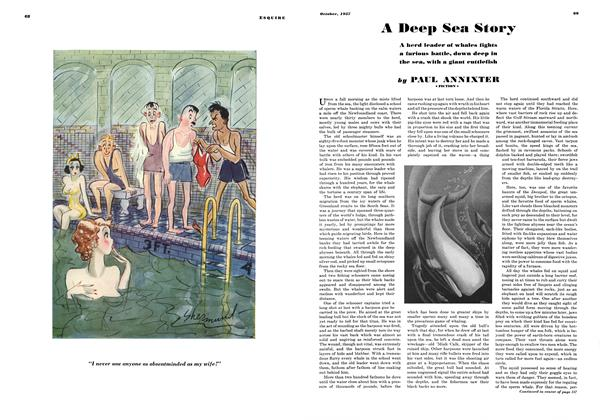 Article Preview: A Deep Sea Story, OCTOBER 1937 1937 | Esquire