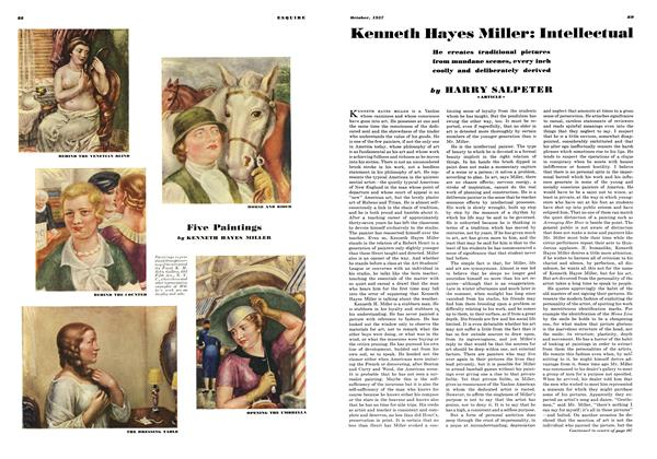 Article Preview: Kenneth Hayes Miller: Intellectual, OCTOBER 1937 1937 | Esquire