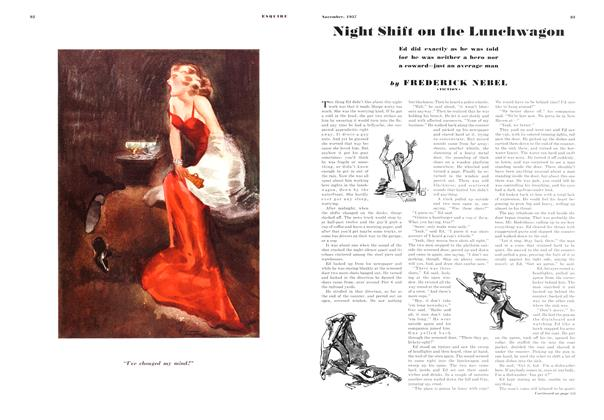 Article Preview: Night Shift on the Lunchwagon, NOVEMBER 1937 1937 | Esquire