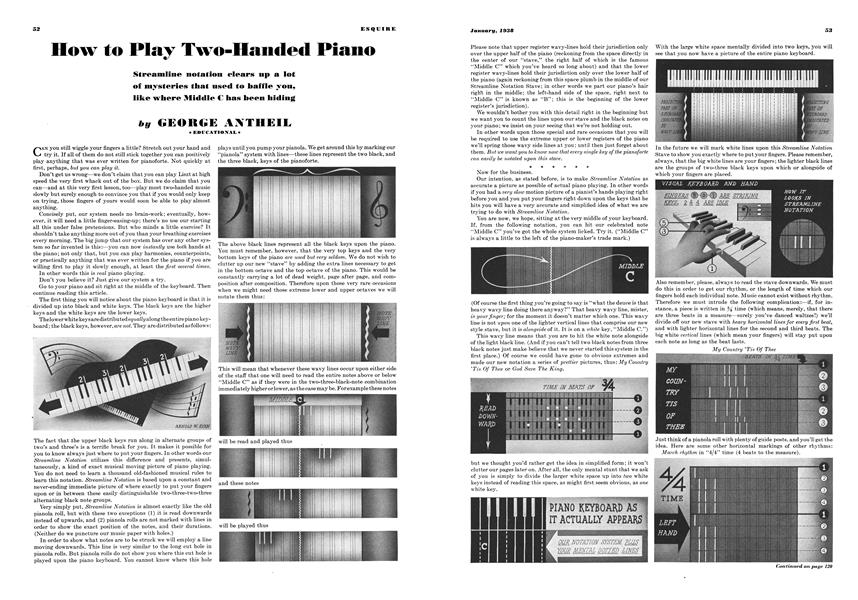 How to Play Two-Handed Piano | Esquire | JANUARY 1938