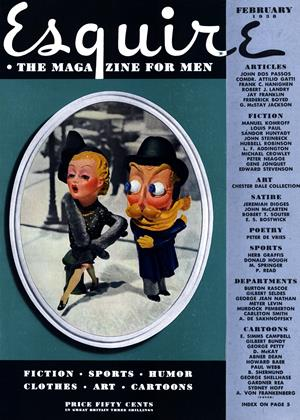 Cover for the February 1938 issue