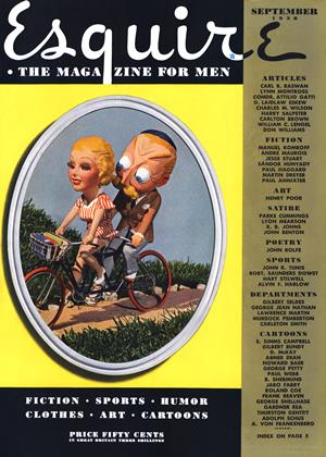 Cover for the September 1938 issue