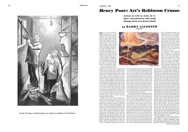 Article Preview: Henry Poor: Art's Robinson Crusoe, SEPTEMBER 1938 1938 | Esquire