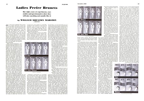 Article Preview: Ladies Prefer Brunets, November 1938 | Esquire