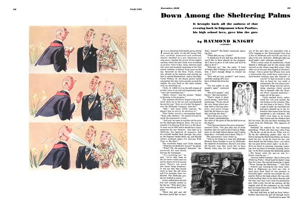 Article Preview: Down Among the Sheltering Palms, November 1938 | Esquire