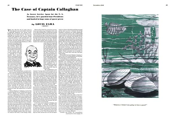 Article Preview: The Case of Captain Callaghan, November 1938 | Esquire