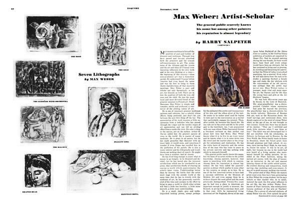 Article Preview: Max Weber: Artist-Scholar, November 1938 | Esquire
