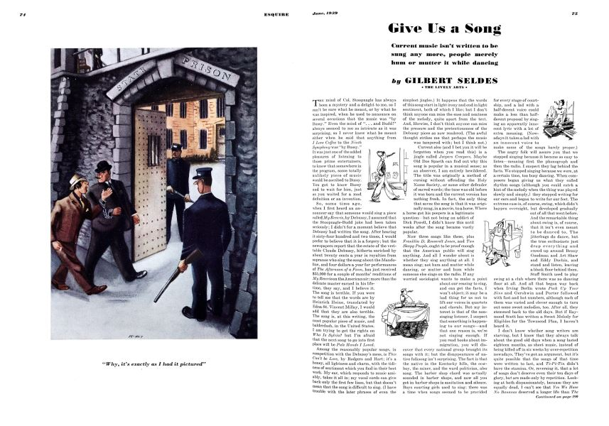 Give Us a Song | Esquire | JUNE 1939
