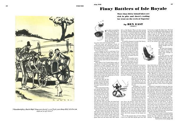 Finny Battlers of Isle Royale